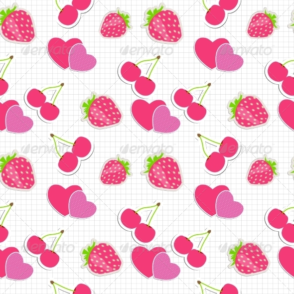 GraphicRiver Strawberry Pattern 7014168