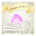 Grungy Easter Background with Decorated Eggs - PhotoDune Item for Sale