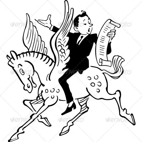 GraphicRiver Poet on Pegasus 7016252