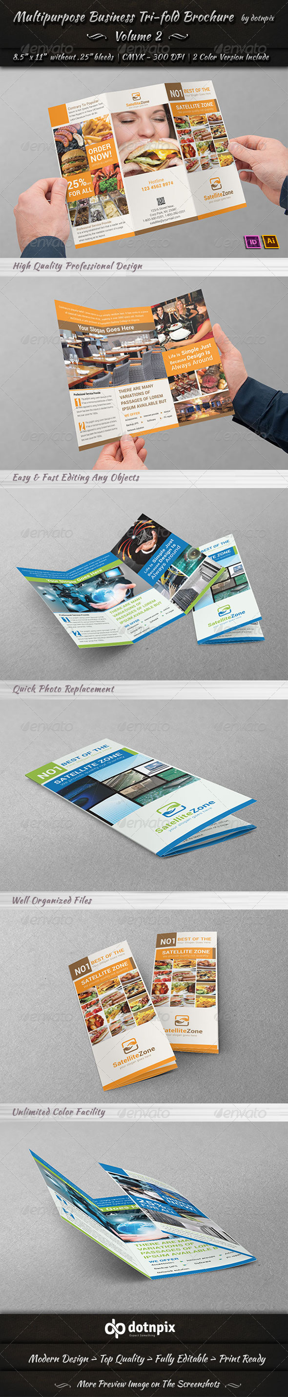 GraphicRiver Multipurpose Business Tri-Fold Brochure Volume 2 7006982