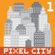 Pixel Art City Set 1 - GraphicRiver Item for Sale