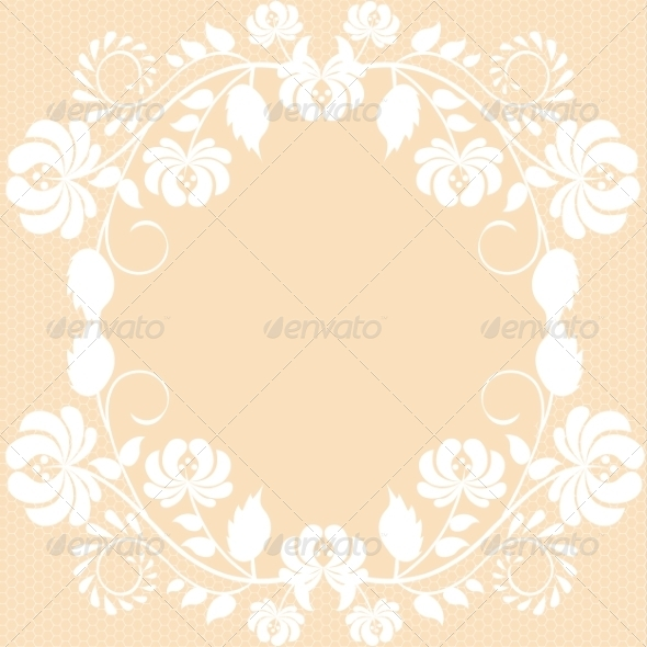GraphicRiver Lace Fabric Background 7017802