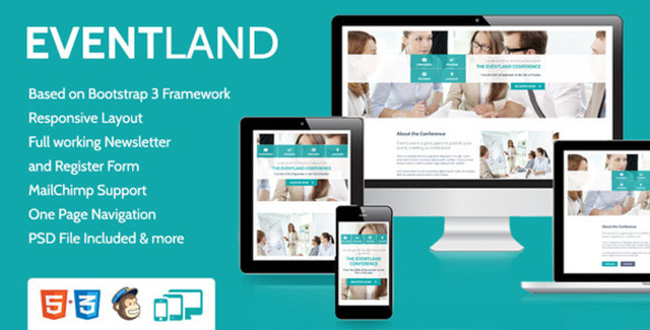 EventLand Landingpage - Events Entertainment