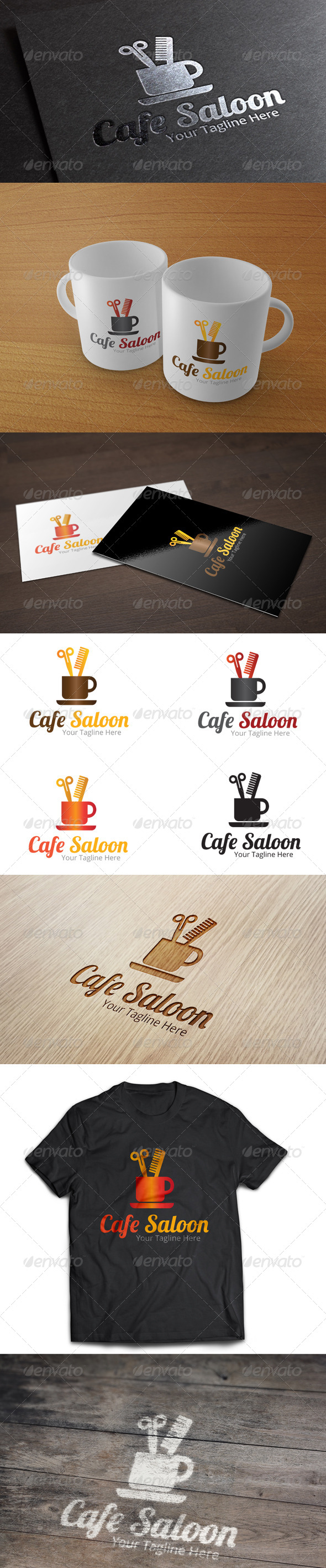 GraphicRiver Cafe Saloon Logo Template 7018737