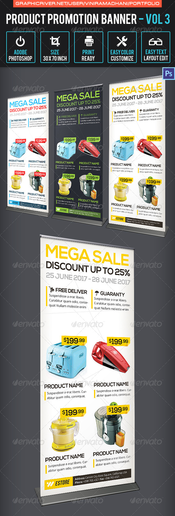 GraphicRiver Product Promotion Banner Volume 3 7019658