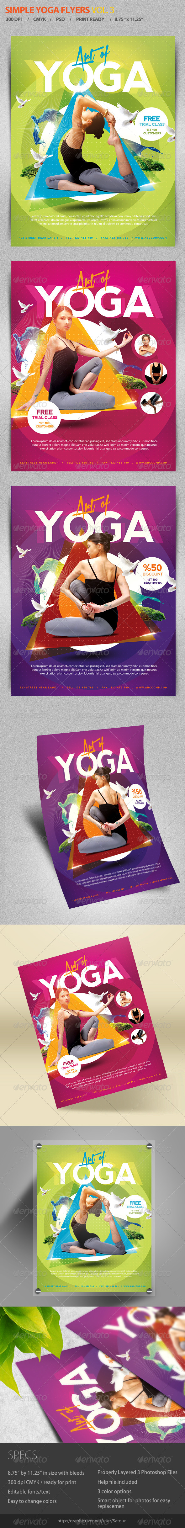 GraphicRiver Simple Yoga Flyer Template V3 7019731