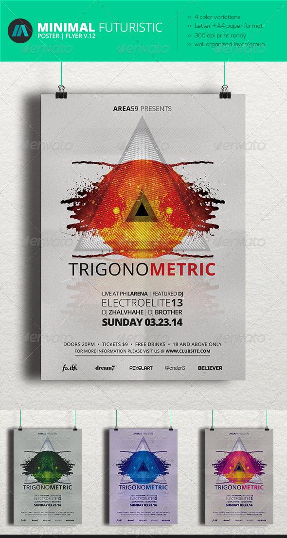 GraphicRiver Minimal Futuristic Poster Flyer V.12 7019732