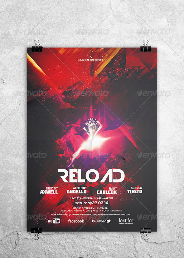 GraphicRiver Reload Flyer Poster 7019893