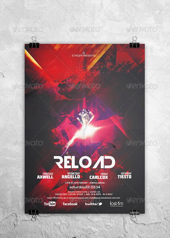 GraphicRiver Reload Flyer Poster 7019893