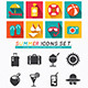 Summer Icons Set Modern Flat Icons. - GraphicRiver Item for Sale