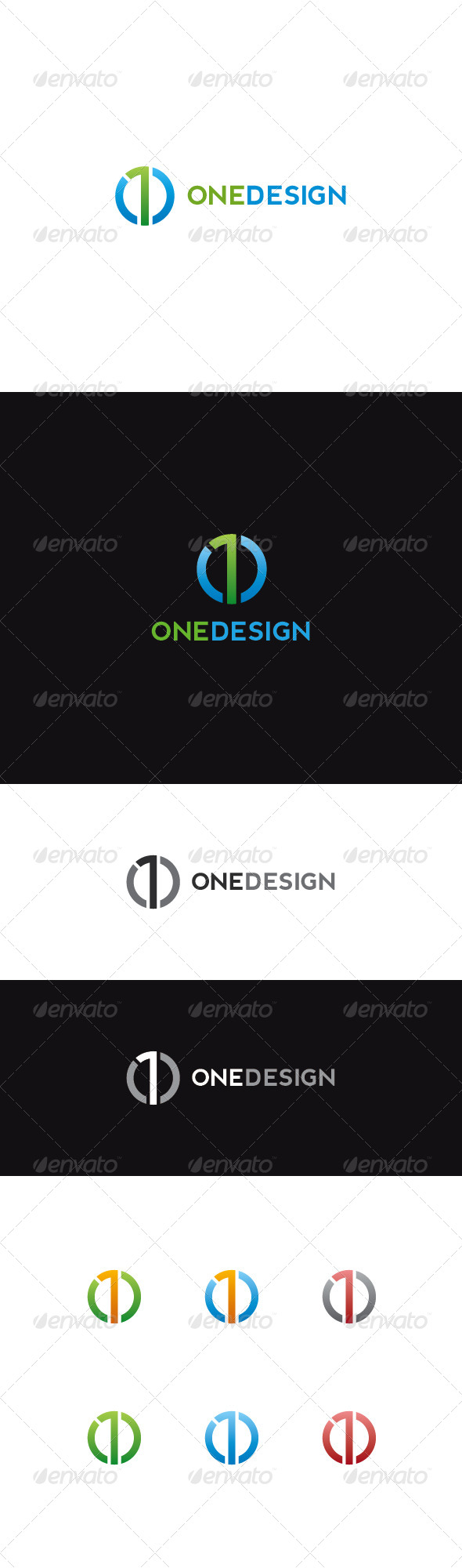 GraphicRiver Number One Logo Onedesign 7021012