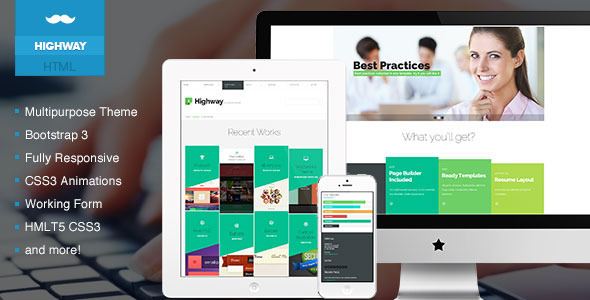 ThemeForest Highway Creative & Multipurpose Template 7021581