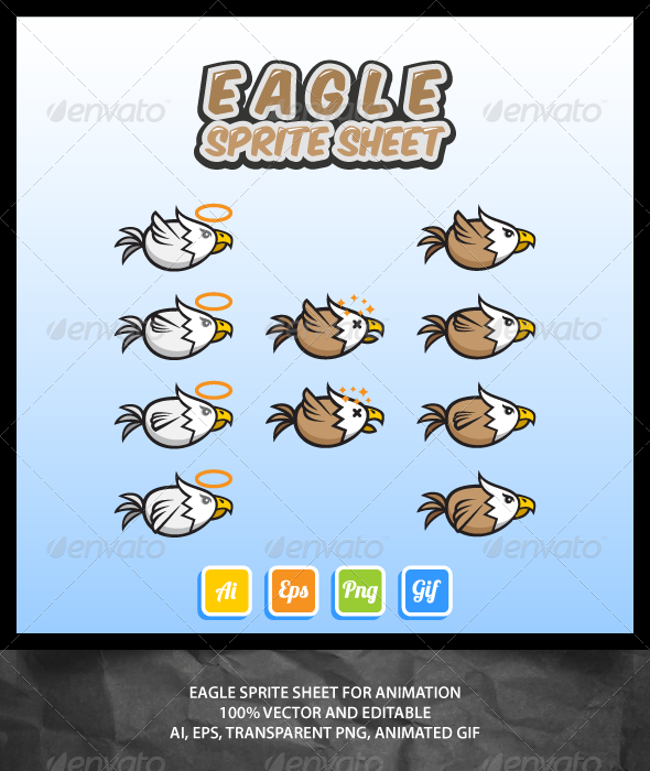 GraphicRiver Eagle Sprite Sheet 7021644