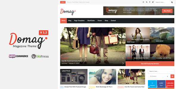 Domag l Flat Responsive & Retina WordPress Magazin - News / Editorial Blog / Magazine
