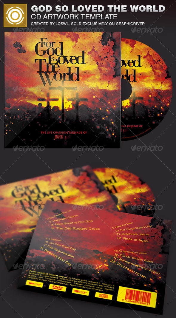 GraphicRiver God So Loved The World CD Artwork Template 7021998