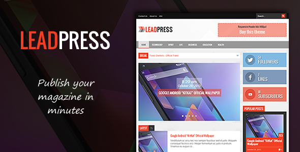 Lead Press – Flexible Magazine WordPress Theme - News / Editorial Blog / Magazine