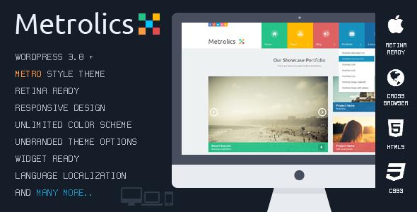 ThemeForest Metrolics Responsive Metro WordPress Theme 6984830