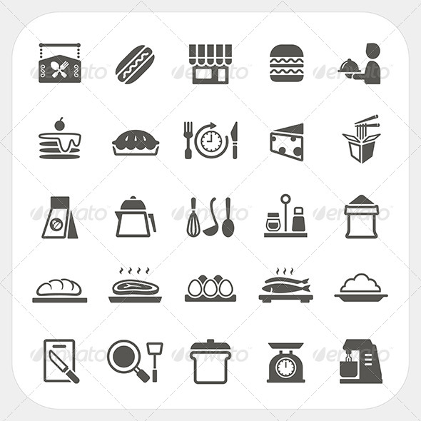 GraphicRiver Food Icons Set 7022622