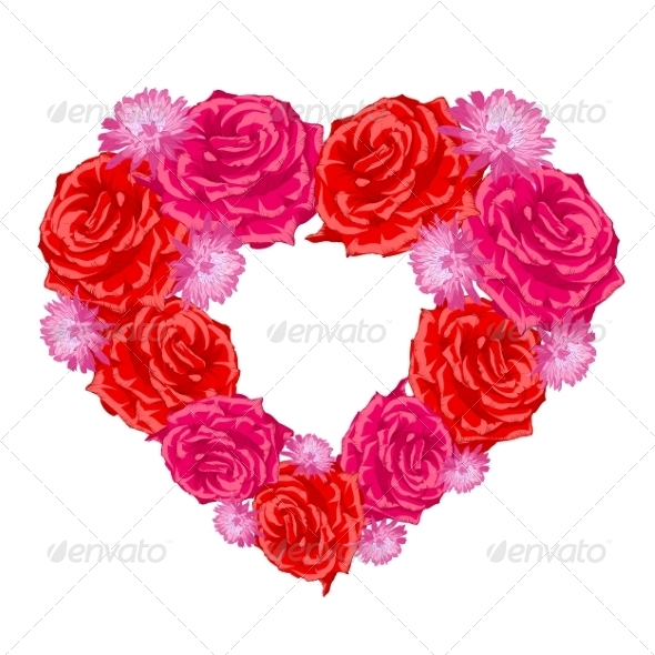 GraphicRiver Rose Heart 7022661