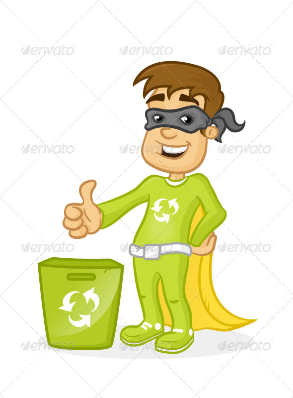 GraphicRiver Recycle Superkid 7023649