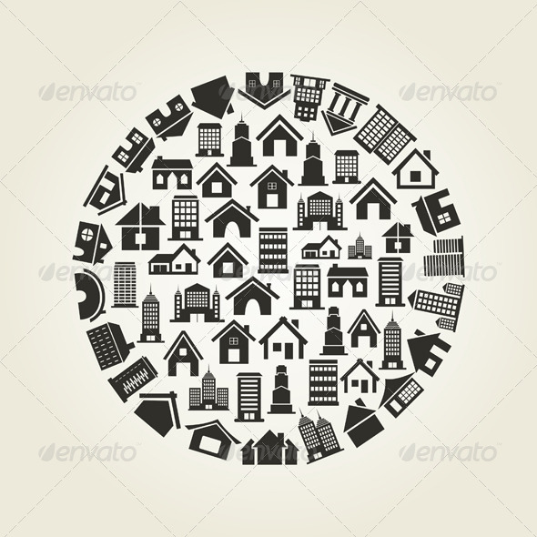 GraphicRiver House Circle 7023815