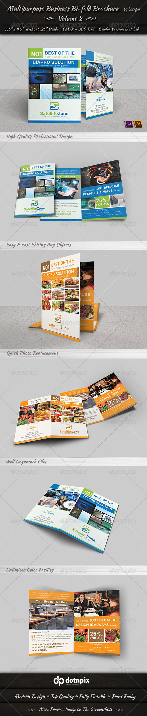 GraphicRiver Multipurpose Business Bi-Fold Brochure Volume 2 7024155