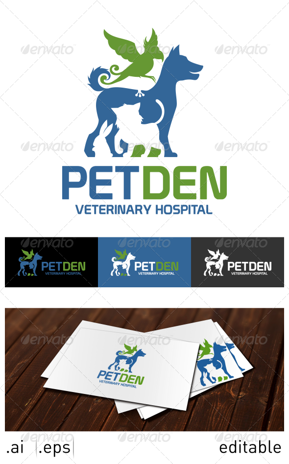 GraphicRiver Pet Den Logo Template 7025167