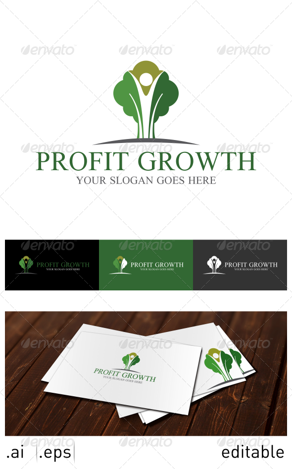 GraphicRiver Profit Growth Logo Template 7025192
