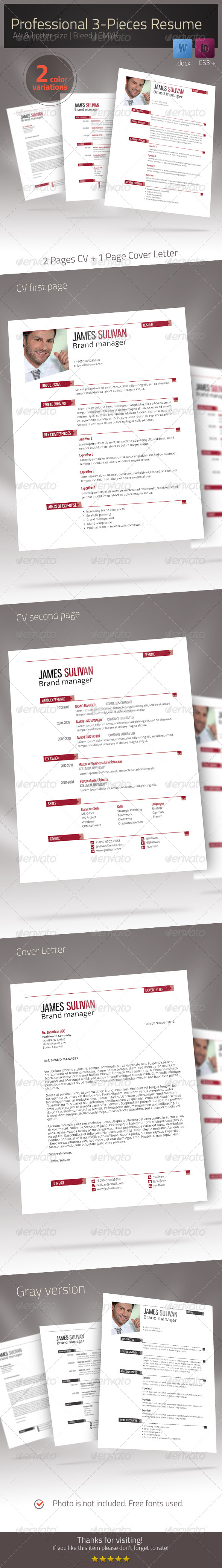 GraphicRiver Resume Xtend CV Set 7025797
