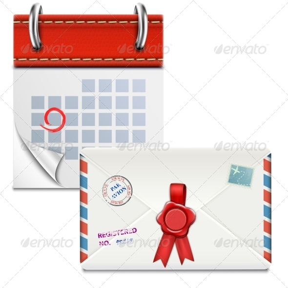 GraphicRiver Loose-Leaf Calendar with Closed Envelope 7025854