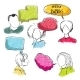 Doodle Speech Bubbles with Men and Women - GraphicRiver Item for Sale