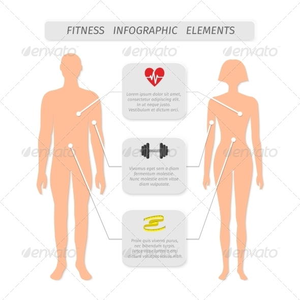GraphicRiver Infographic Elements for Fitness Sports 7027106