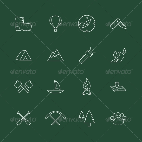 GraphicRiver Outdoors Tourism Camping Website Elements 7027120
