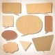 Cardboard Speech Bubbles Set - GraphicRiver Item for Sale