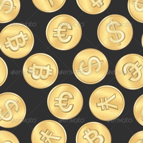 GraphicRiver Seamless Money Payment Coins Pattern 7027327