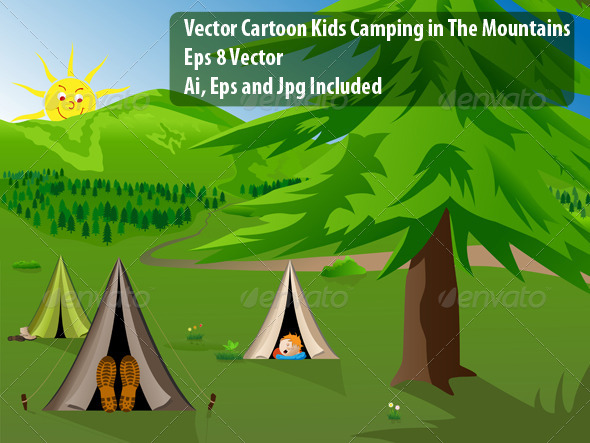 GraphicRiver Camping 7027336