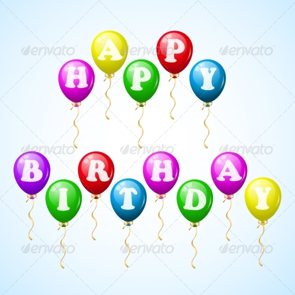 GraphicRiver Happy Birthday Celebration Balloons 7027583