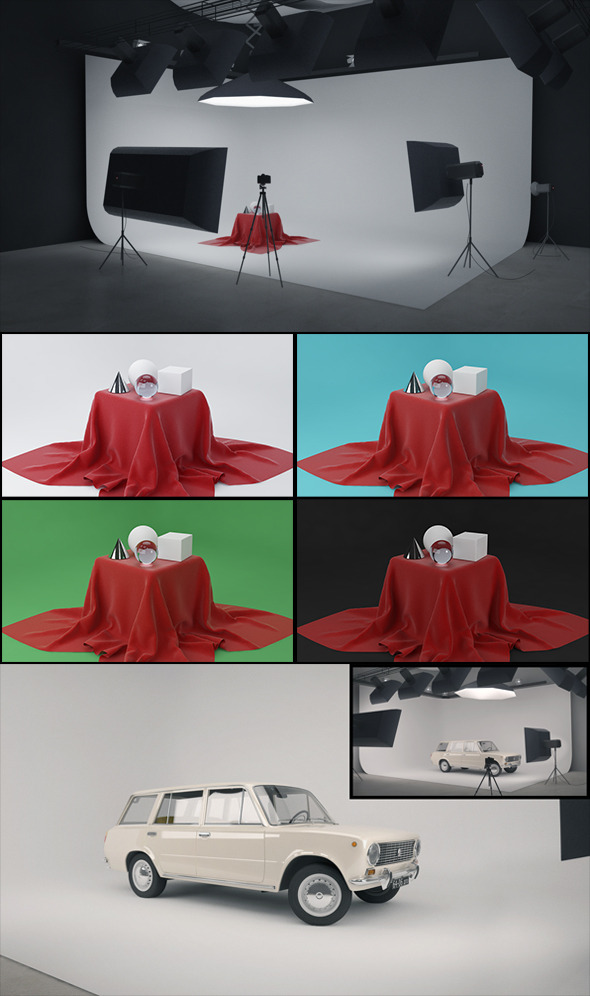 3DOcean Real Studio Setup for V-ray 7027630