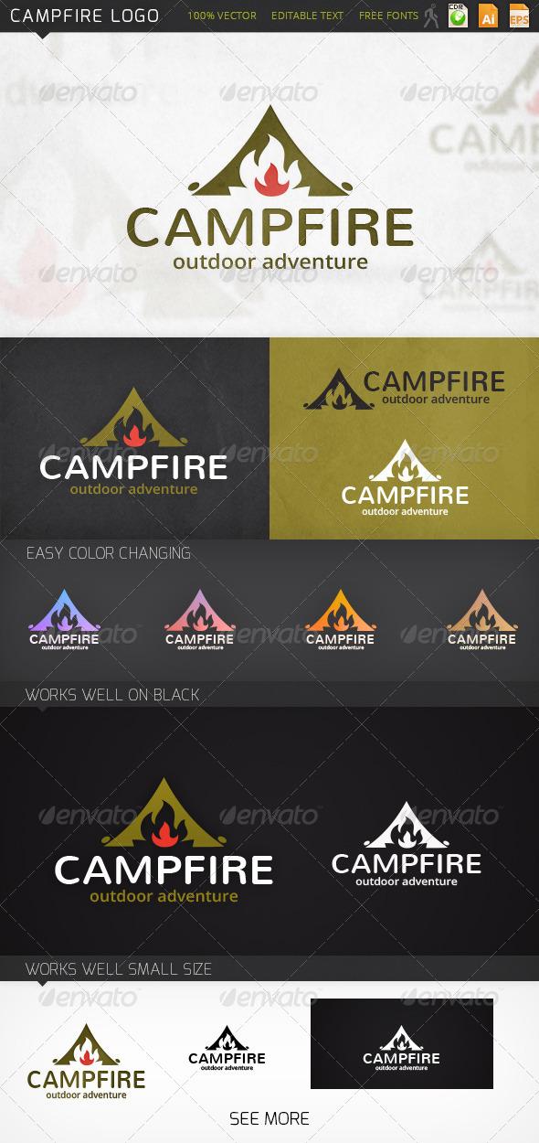 GraphicRiver Campfire Logo 7027733