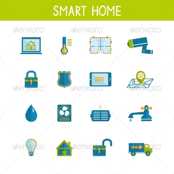 GraphicRiver Smart Home Automation Technology Icons Set 7027888