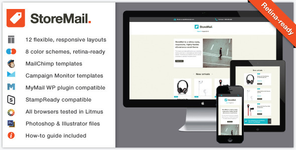 StoreMail: Responsive eCommerce Retina Email Theme - Email Templates Marketing