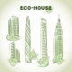 Eco Green Buildings Icons - GraphicRiver Item for Sale