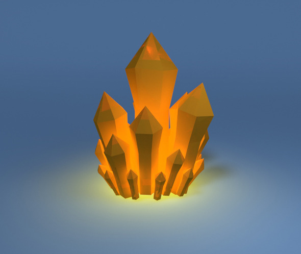 3DOcean Low poly mineral crystal 7028519