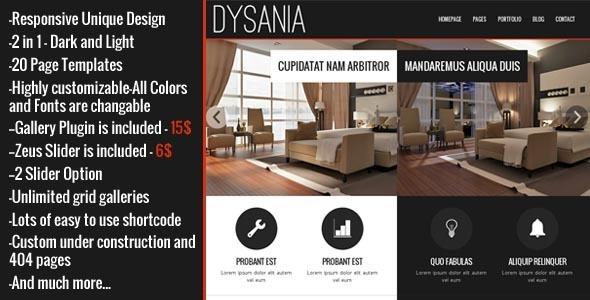 ThemeForest Dysania Responsive Multi-Purpose Wordpress Theme 7029495
