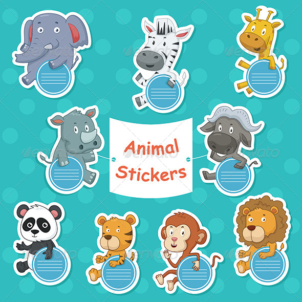 GraphicRiver Animal Stickers 7029695