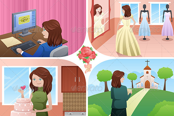 GraphicRiver Woman Planning for her Wedding 7029774