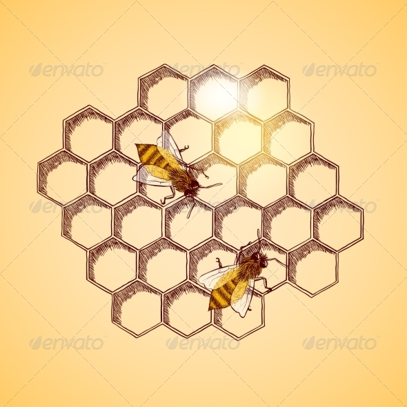 GraphicRiver Honeycomb Background 7029841