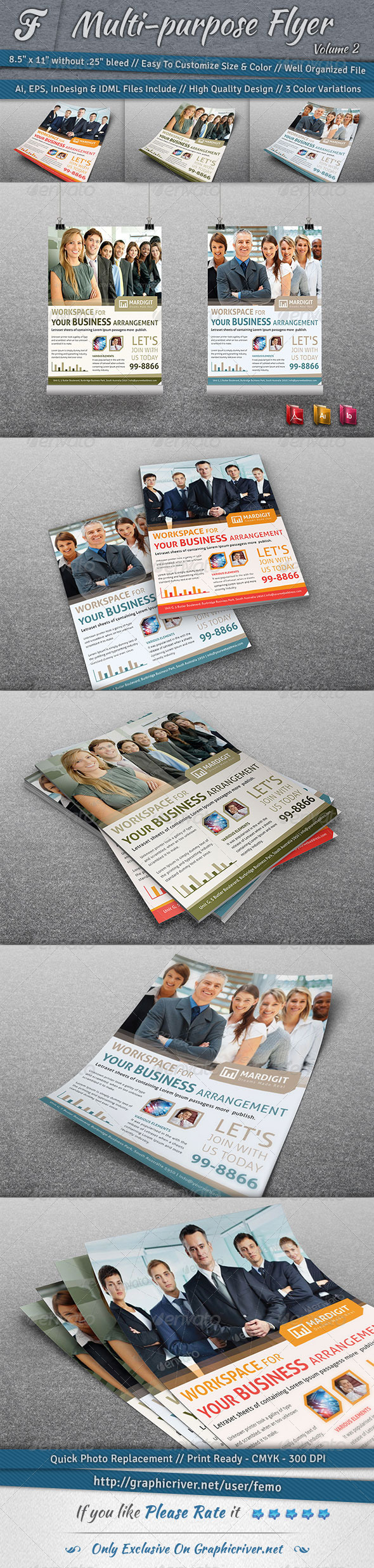 GraphicRiver Multi-purpose Flyer Volume 2 7030164