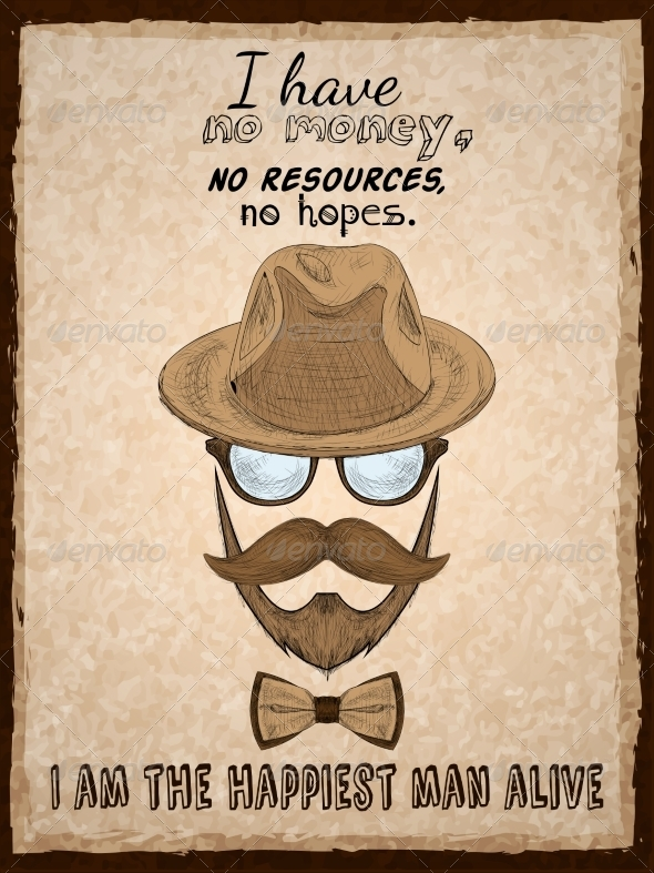 GraphicRiver Hand Drawn Hipster Poster Print 7030177
