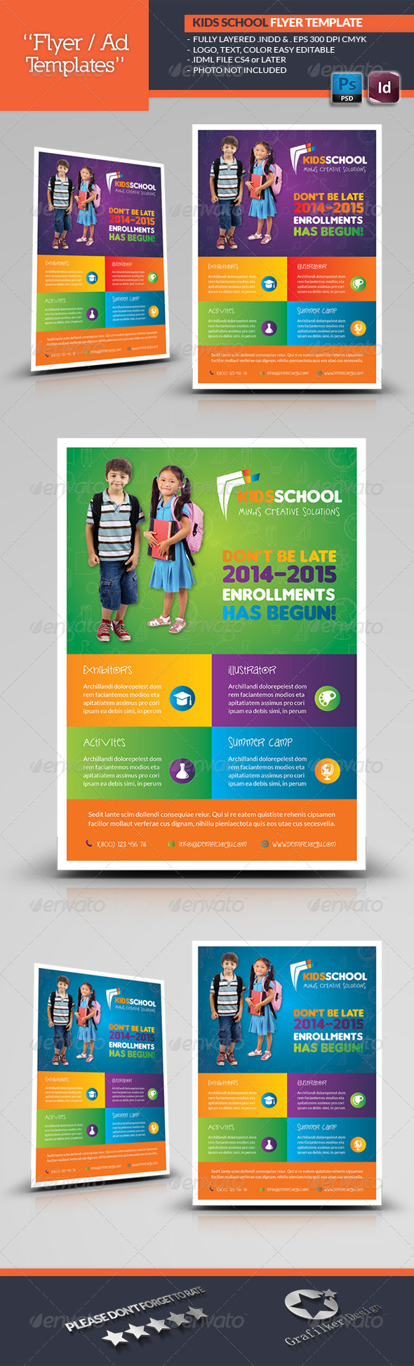 GraphicRiver Kids School Flyer Templates 7030265